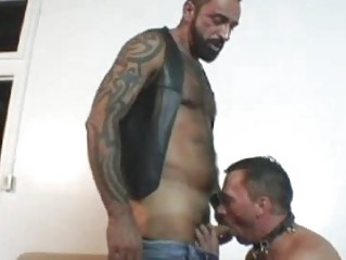 Nasty Tattooed Bear Fucks His Friend Deep