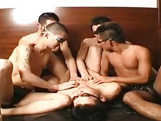 A Japanese uncaring orgy delight
