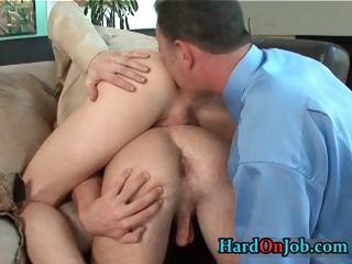 Horny merry threesome rimming