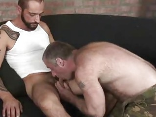 Blistering Tattooed Stud Shacking up A Hairy Bear