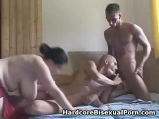 Compilation of threesome bisexual action with fat brunettes and jet brunettes