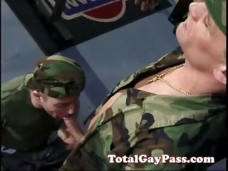 Load of shit sucking soldier