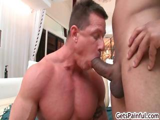 Mature human nature guy sucking black cock part5