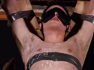 Aaron Aurora Tied Helter-skelter Blindfolded Added to Sucking