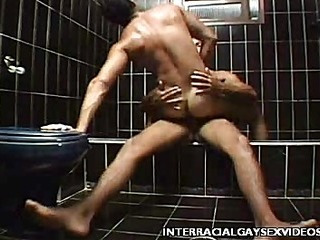 Gay Interracial Shower Fuck