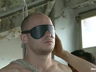 Straight German stud gets edged to the fullest extent a finally his girlfriend watches