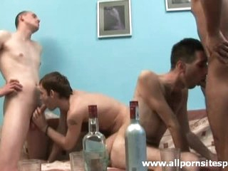 Drunk guys get naked so they can fuck