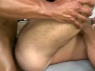 Straight client assfucks with an increment of jizzes gay masseur