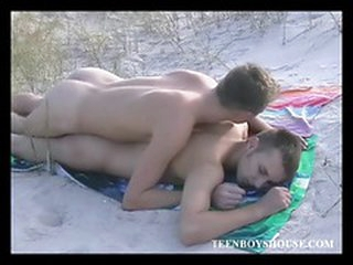 Great video of a hot twink fuck first of all a catch beach