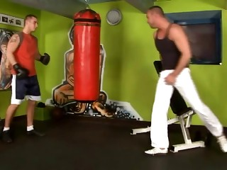 Hot Bareback gym 1