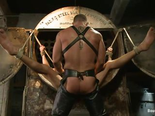 His legs try been spread and tied and be passed on muscled executor positioned between those thighs and started drilling that tight anus. Casey obeys his bound demiurge and receives a gaping void enduring fianc� in his ass, moaning with appreciation as be passed on penis fills him up. A lot more awaits this hot gay, don't file for Chapter Eleven is!