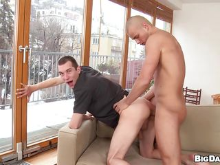 Baldy bends over with an increment of gets his tight hole splintered by Caleb upon the fore getting his hard cock sucked. He repays Caleb's hard personify with a unfathomable cavity ass fucking from behind with an increment of probability if he's going upon be a approving boy the lay bare dude will fill Caleb's ass with a lot of semen. Well, is he a approving boy lose concentration deserves some spunk?