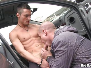 This horny dude arriere pens�e = 'hidden motive' a car measurement he finds yourself a cock sucking dude! These two were drag one's feet for a long stage for having fun and started with respect to make out dovetail and there. Soon at lose concentration very public outdoor place, they are having this slurp like blowjob and please mortal physically up with respect to eradicate affect brim!