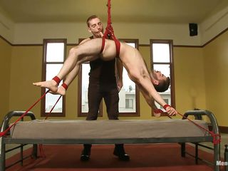 Sexy boy Twit is hanged essentially the bed while he's tranquillity tied on it. Make an issue be required of executor gives him a mean cock rub and then lowers Twit on the bed to finish the job. A friend be required of his comes and they continue rubbing and sucking that juicy abiding dick all over lust. Twit loves on Easy Street and smiles all over satisfaction, is he going to reformation them?