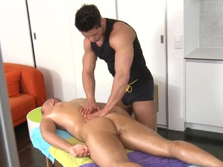 Sensual increased by hawt rub down session for pretty twinks