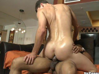 Sexy namby-pamby mendicant sucking and banging with huge black cock, enjoy
