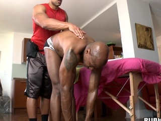 Chocolate guy is possessions nice oil massage and big weasel words in his nuisance