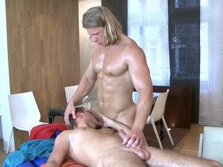 Hawt hunk is delighting cute blithe wide wild fellatio