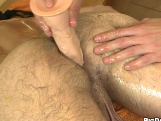 Nasty guy in long cock penetrating his lovely friend in underscore