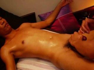 Crooked Uncut Asian Weasel words Receives Smooth Thai Massage
