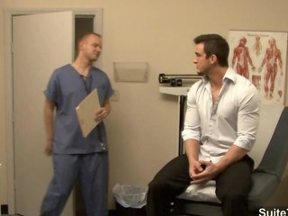 Hot gay gets pest inspected by doctor
