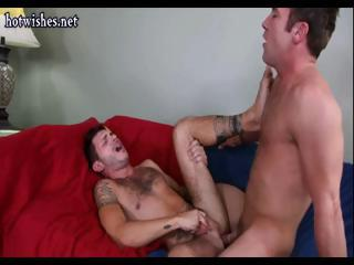 Horny tattooed guy gets all over suck some cock together with fuck some tight bloke ass
