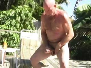 Daddy Chuck Plays With Himself Plus Some Sun Lotion