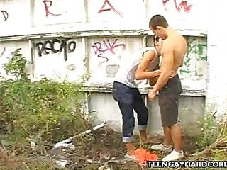 Twink Outdoor Blowjob
