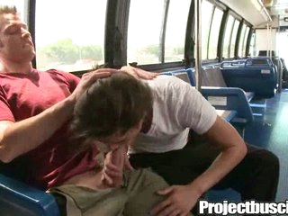 Joyful tight ass pounded in a bus