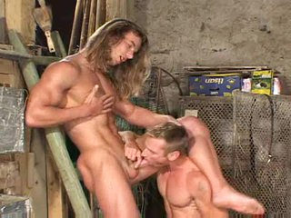 Blowjobs with muscular careless guys