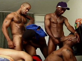 Savage black gay boners collision