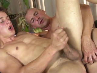 Hot young twink massage and bareback
