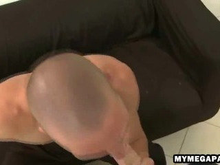 Eager stud sucks on a cock less the office