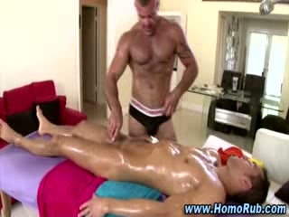 Gay straight massage table fuck