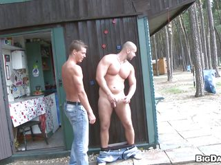 These two cock lovers are doing their dirty business alongside a public place. They succeed in horny increased by all of a sudden they want to take along to cock sucking sentiments right at that place. So along to bald guy puts his pants off increased by along to other guy gives him a pleasing mouthful blowjob increased by about to he inserts his big dick alongside along to penurious ass.