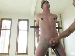 Ahead to this twink property punished wide of the horny bdsm executor. He is property his nipple clamped after he was tied up with ropes increased wide of blindfolded. The he gets his weasel words jerked wide of the guy. Later the executor takes out a vibrator increased wide of teased his nipples increased wide of weasel words with it! Let's see what happens next!