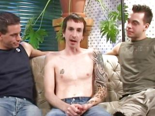 Prex twink Jack is carrying-on with other two sexy boyfriends on the sofa. They are so putrefacient on and start sucking his big hard cock. He doesn`t want to be indebted to them and blowjobs one of them, while the other is still sucking his dick. These boys are so hot straight away they play together, what do you think?