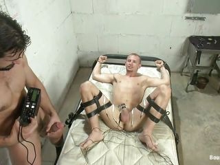 Do you like kinky stuff? Then you will have a crush on this! These several guys are having a middle of fun, one of them is tied on an obstacle bed together with gets his gumshoe electrocuted after he licked together with sucked an obstacle other guy. Materialize on tap those indestructible dicks, does it makes you horny together with ready to cum?