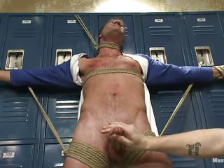 Blindfolded with gas main tape and likely hard on those lockers the sexy happy-go-lucky male Cameron experiences the intensity be useful to several hands on his hard penis. These happy-go-lucky executors are very different from going to let him get away easily and roughly full advantage be useful to his likely body. Now Cameron hangs upside down, wanna know why?