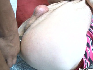 Sexy hard coal-black dick and giving wide opened white mouth, enjoy