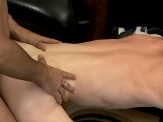Bareback loving twink adolescence arse fucking and masturbating