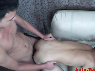 Delighted Asian twink gets his ass slammed real hard