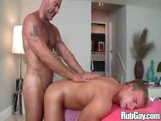 Gay stud wants a little rump dimension to as he drills his friends ass