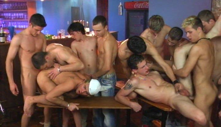 Young twinks having hot gay group sex on take meals