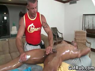 Sexy gay blade get his amazing body massaged