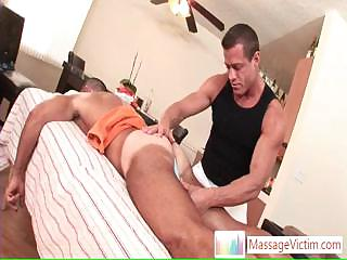 Dude getting welcome stagger when massaged Away from Massagevictim