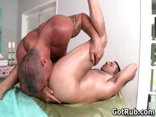 Hot guy get his amazing synod massaged