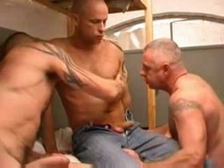 Three hot men in prison