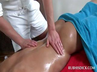 Oil body rub-down with hot gays