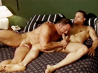 Gym studs suck each others hard cocks before fucking regarding a catch locker...